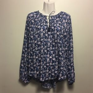 Simply Vera Floral Long Sleeve Blouse